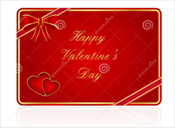 Personalized Valentine Gift Card