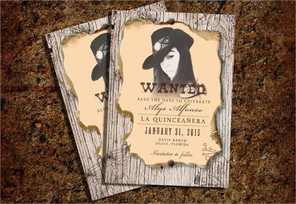 personalized western wanted poster
