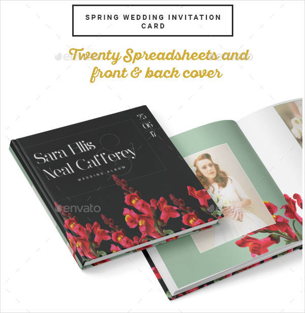 photobook wedding album psd