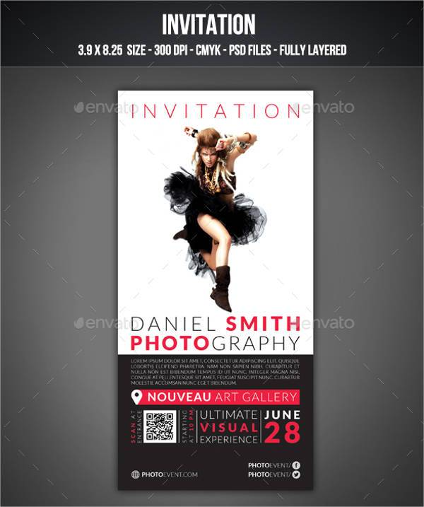 Photography Event Invitation