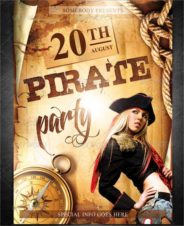 Pirate Event Party Flyer