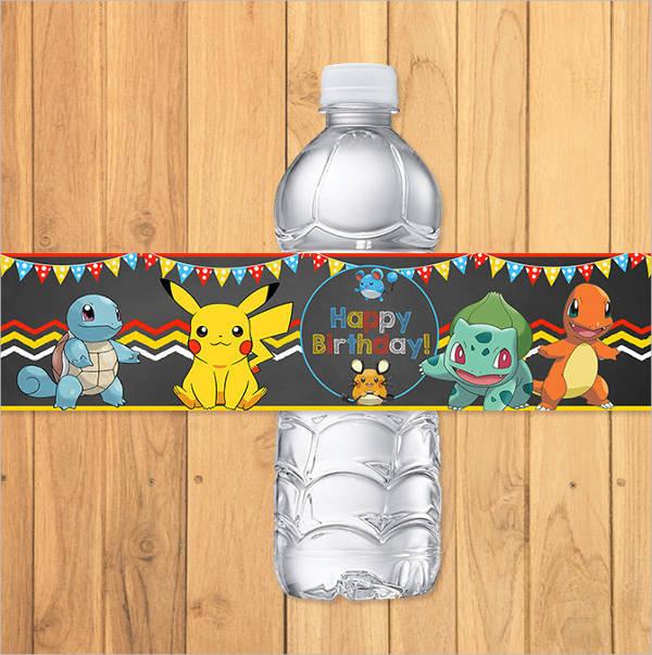 pokemon drink bottle label