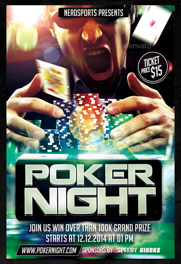 Poker Tournament Sports Flyer