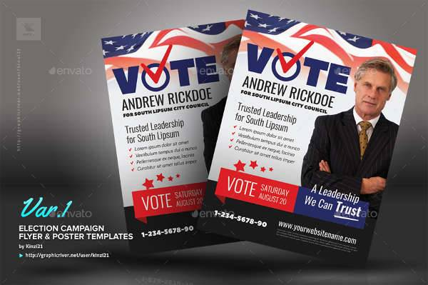 Political Flyer Templates Printable PSD AI Vector EPS - Political campaign brochure template
