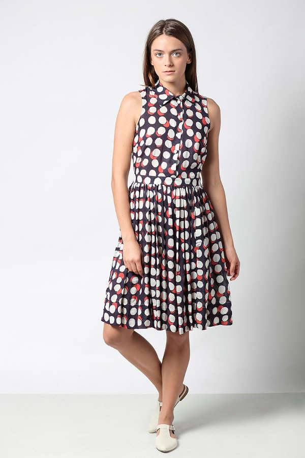 polka dot bridesmaid dress