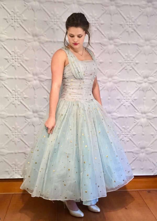 polka dot dress for prom
