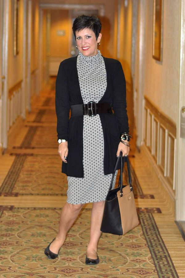 polka dot midi dress design