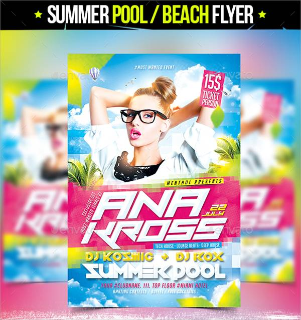 Pool Beach Party Flyer
