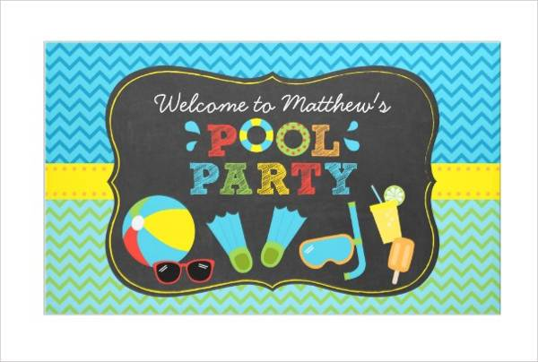Pool Party Event Banner