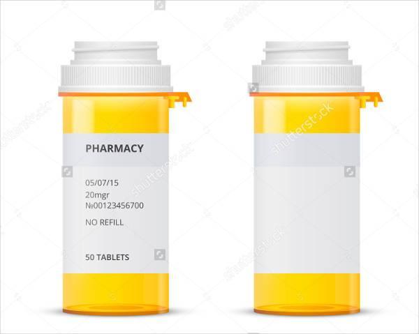 prescription pill bottle label
