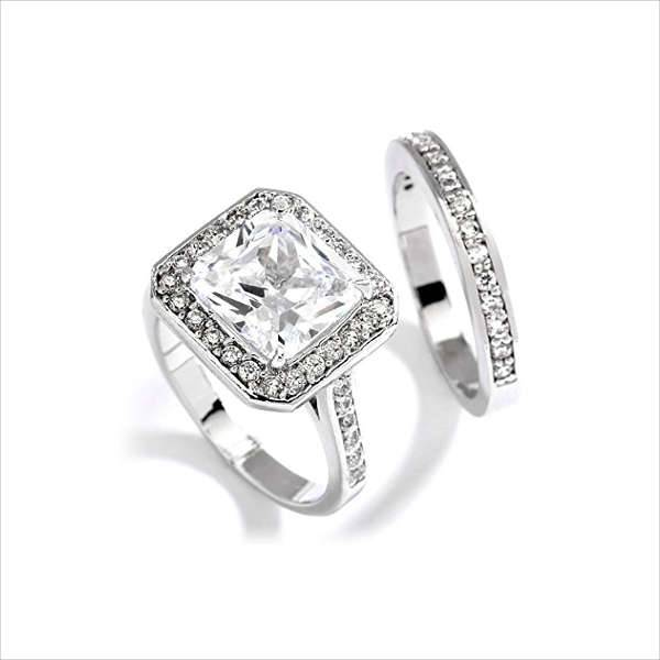 princess cushion cut engagement ring