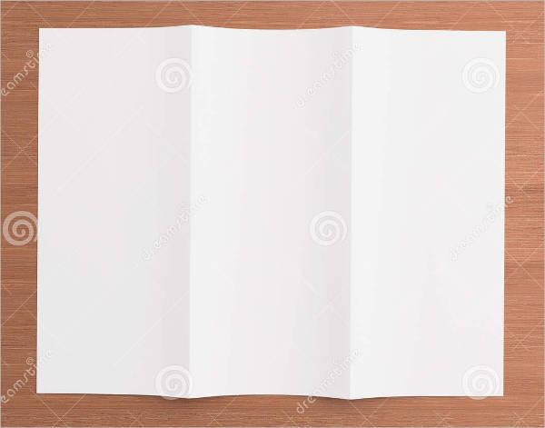 Printable Blank Tri-Fold Brochure