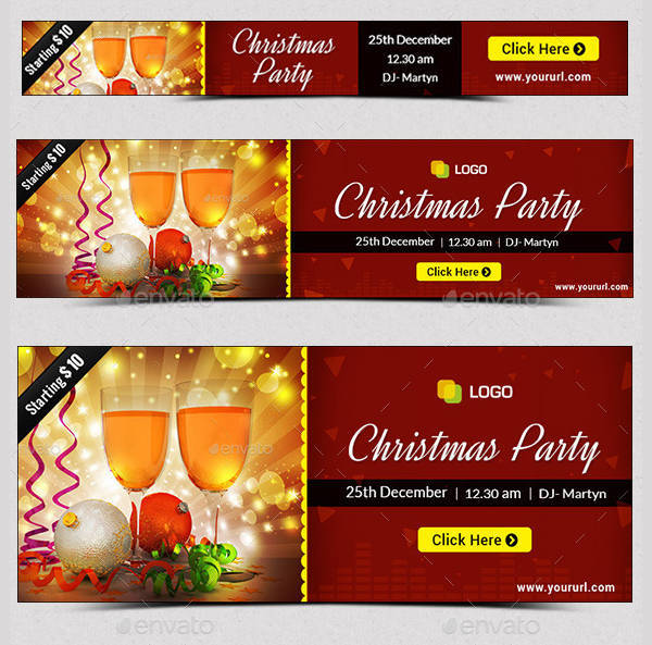printable christmas party banner