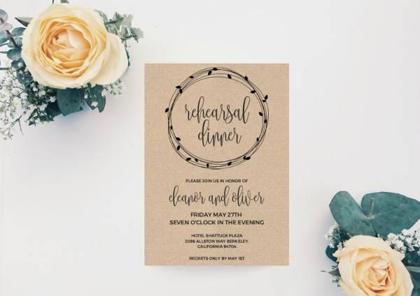 Printable Dinner Invitation Card