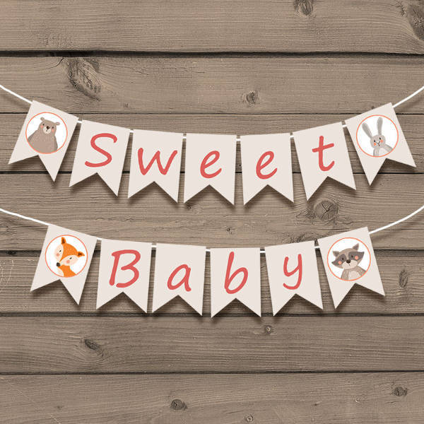 printable diy baby shower banner