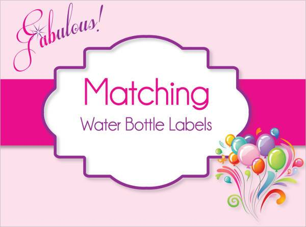 printable diy water bottle label
