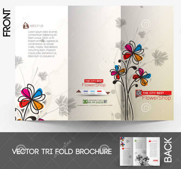 printable flower shop brochure