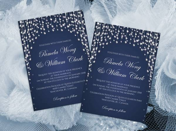 Printable Wedding Invitation Card