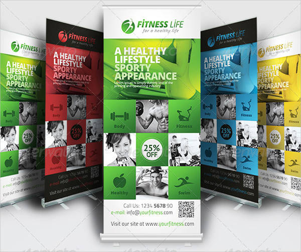Professional Fitness Rollup Banner
