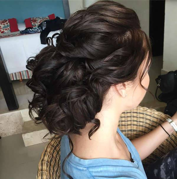 prom curly updo hairstyle