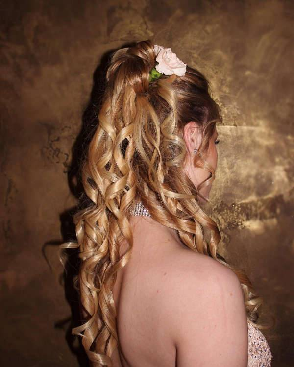 Prom Half Updo Hairstyle
