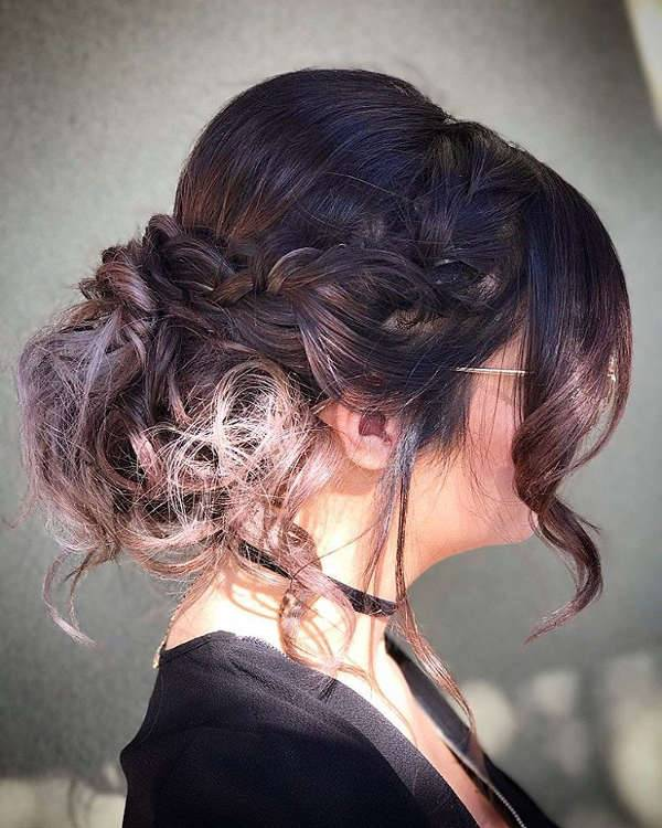 Prom Updo With Bangs