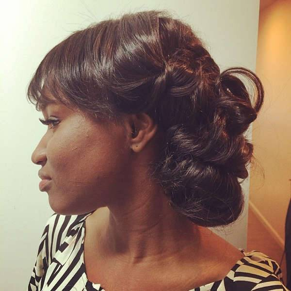 prom weave updo hairstyle