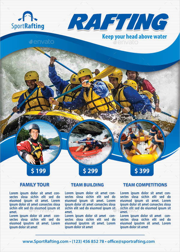 Rafting Sports Club Flyer