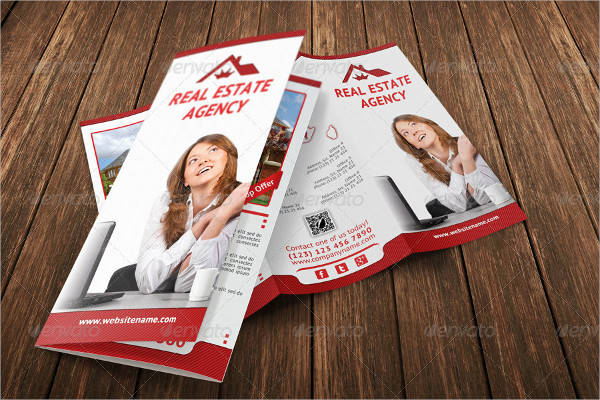 real estate agency illustrator brochure