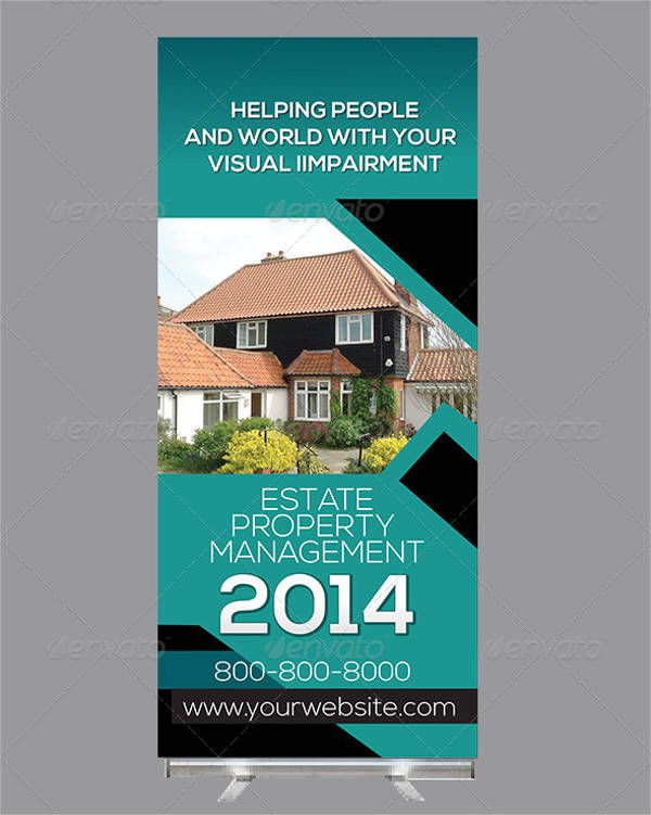 Real Estate Billboards Roll Up Banner