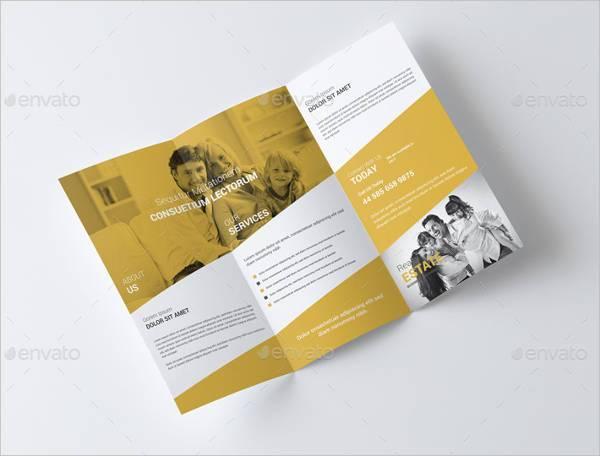 Real Estate Busines Trifold Brochure
