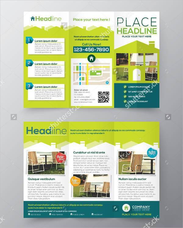 Real Estate Business Brochure Flyer Design Vector
