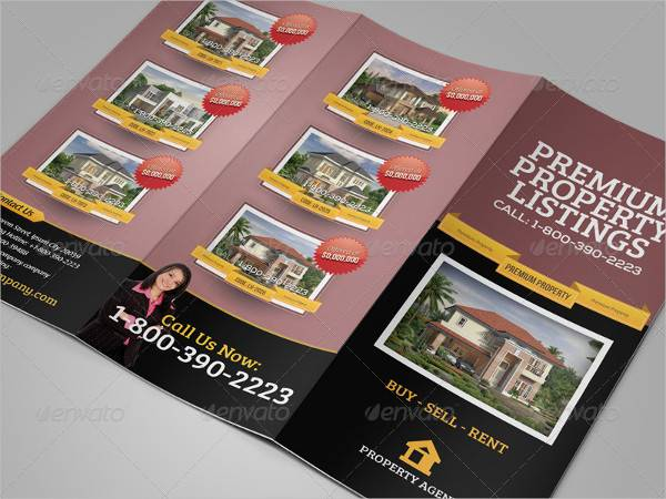 Real Estate Business Trifold Brochure