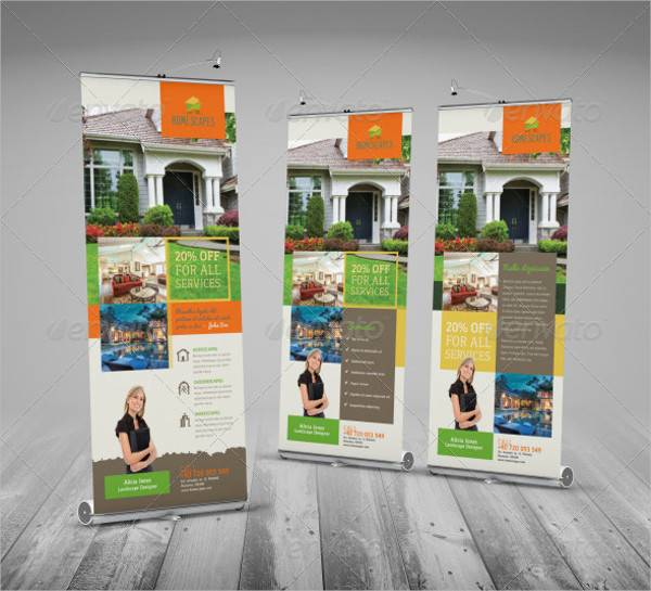 Real Estate and Homescapes Roll Up Banner