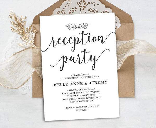 After The Wedding Party Invitations: 41+ Invitation Card Designs - PSD, Word, AI