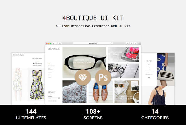 responsive e commerce web ui kit
