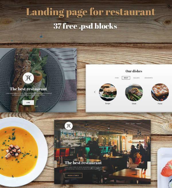 restaurant food ui kit