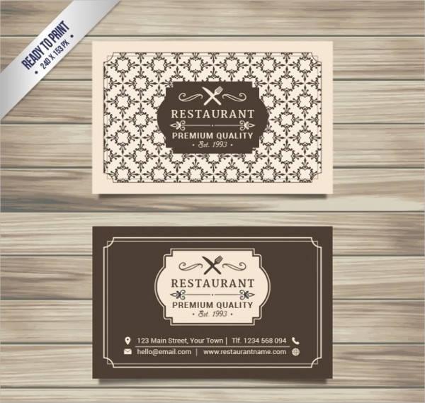 Restaurant Vector Business Card
