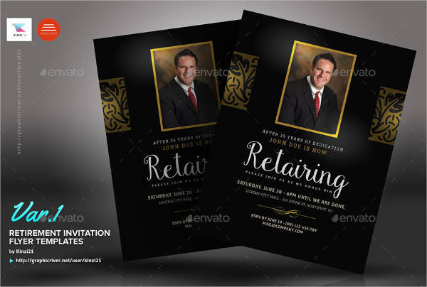 Retirement Invitation Party Flyer