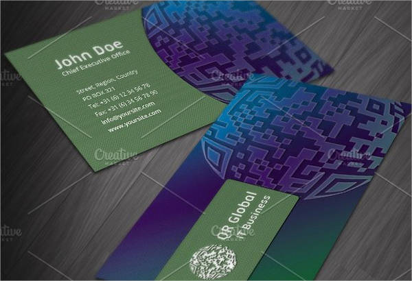 Retro Technology Business Card