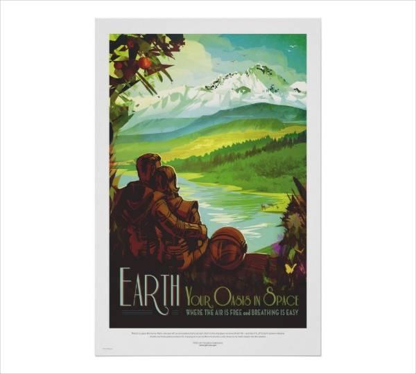 Retro Tour and Travel Poster