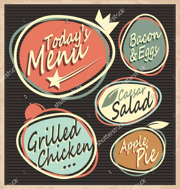 Retro Vintage Food Menu