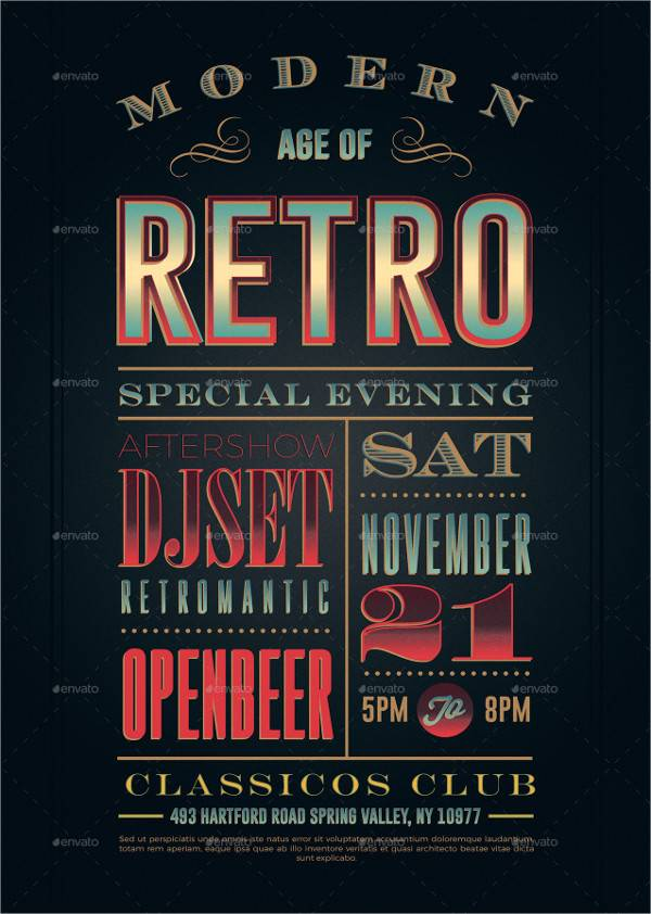 Retro Vintage Typography Poster