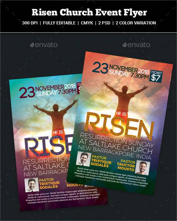 Risen Church Event Flyer
