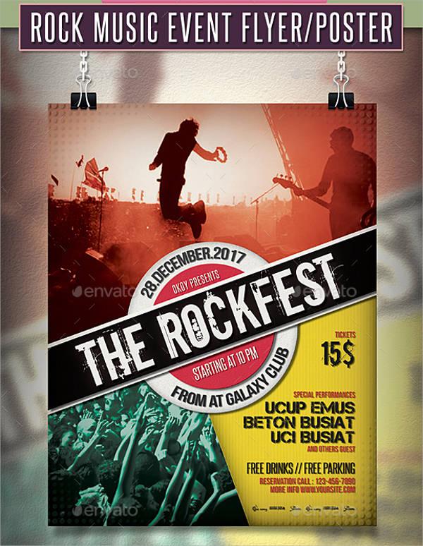 Rock Music Event Flyer
