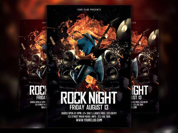 Rock Music Flyer PSD