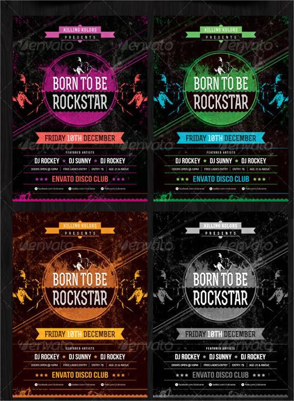 Rockstar Retro Party Flyer