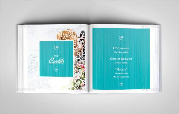 romantic wedding square photo album