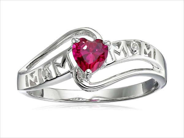 ruby heart engagement ring