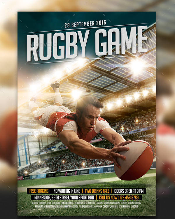 Rugby Games Sports Flyer